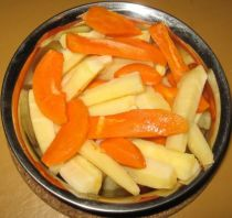 carrots and parsnips cooked together