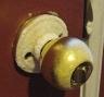 frozen doorknob